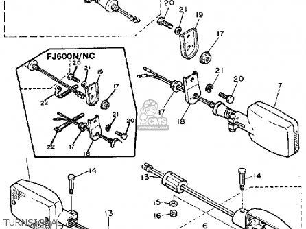 Yamaha Fj600 1984 Usa parts list partsmanual partsfiche