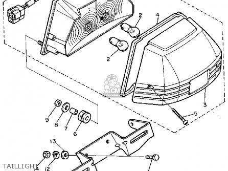 Yamaha Fj600l 1984/1985 parts list partsmanual partsfiche