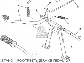 Yamaha FS1 1979 WEST GERMANY TYPE 3F2 parts lists and