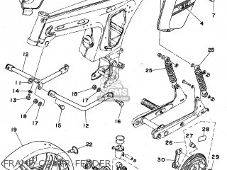 Yamaha Fs1edx 1976 England Type 596 parts list partsmanual