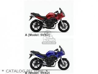 Yamaha FZ6-SS 2006 5VXD EUROPE 1E5VX-300EA parts lists and