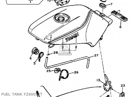 Yamaha FZ600 1986 FAZER USA parts lists and schematics