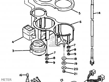 Yamaha FZ600 FAZER 1988 (J) USA parts lists and schematics