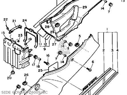Yamaha FZ600C 1986 FAZER CALIFORNIA parts lists and schematics