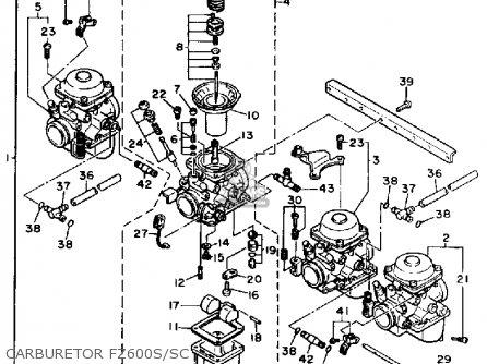 Yamaha Fz600s 1986/1987 parts list partsmanual partsfiche