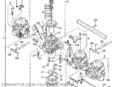 Yamaha Fz600u 1988 parts list partsmanual partsfiche