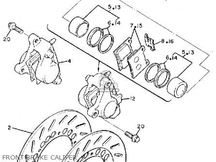 Yamaha Fz600uc 1988 parts list partsmanual partsfiche