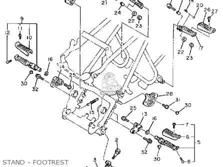 Yamaha Fz600uc 1988 parts list partsmanual partsfiche