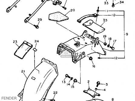 Yamaha Fz700 Genesis 1987 (h) Usa parts list partsmanual