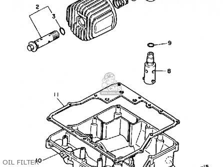 Yamaha FZ700C GENESIS 1987 (H) CALIFORNIA parts lists and