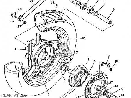 Yamaha Fz700tc 1987 parts list partsmanual partsfiche