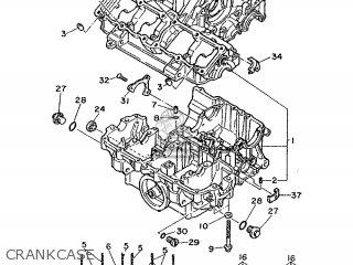 Yamaha Fz750 1986 1tv France 261tv-351f1 parts list