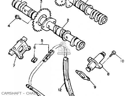 Yamaha Fz750 Genesis 1986 (g) Usa parts list partsmanual