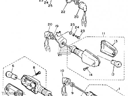 Yamaha FZ750 GENESIS 1986 (G) USA parts lists and schematics