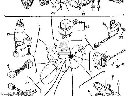 Yamaha Fz750n 1985 parts list partsmanual partsfiche