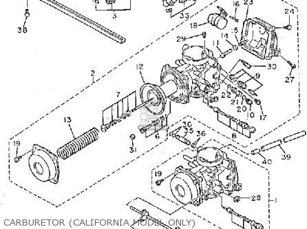 Yamaha Fz750uc 1988 parts list partsmanual partsfiche