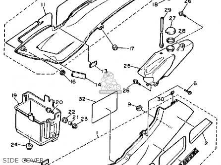Yamaha Fzr1000 1987 (h) Usa parts list partsmanual partsfiche