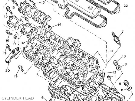 Yamaha Fzr1000 1989 (k) Usa parts list partsmanual partsfiche
