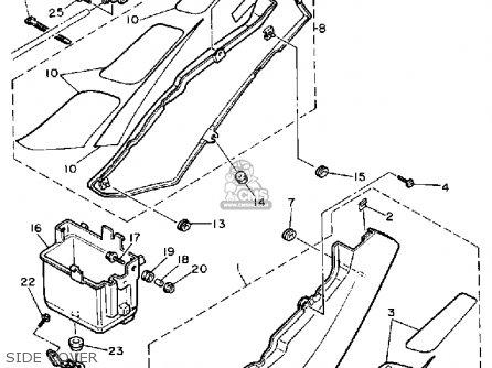 Yamaha Fzr1000 1989 (k) Usa parts list partsmanual partsfiche