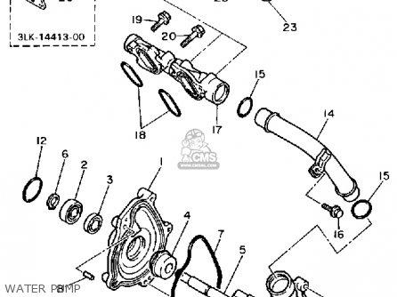 Yamaha FZR1000 1989 (K) USA parts lists and schematics