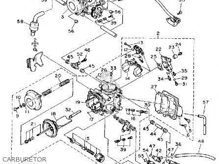 Yamaha Fzr1000 1991 (m) Usa parts list partsmanual partsfiche