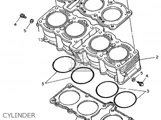 Yamaha FZR1000 1993 3LE5 GERMANY 233LE-332G1 parts lists