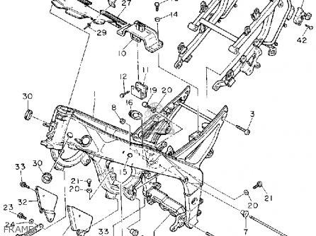 Yamaha FZR1000 1993 (P) USA parts lists and schematics
