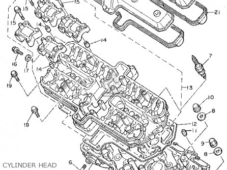 Yamaha FZR1000 1994 (R) USA parts lists and schematics