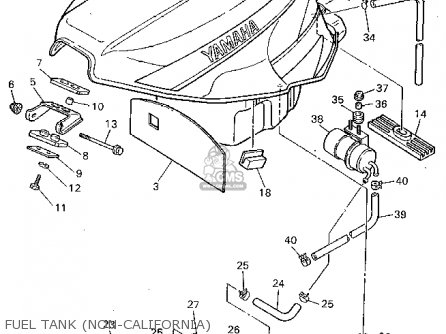 Yamaha Fzr1000 1994 (r) Usa parts list partsmanual partsfiche