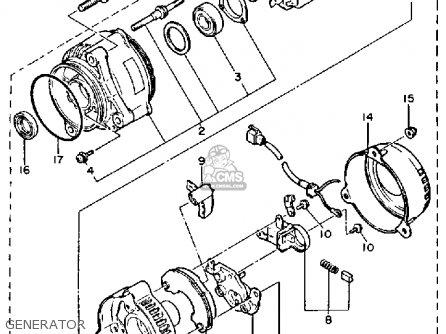 Yamaha Fzr1000c 1987 Genesis California parts list