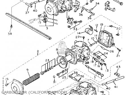 Yamaha Fzr1000c 1988 3ca Genesis California parts list