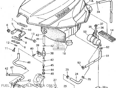 Yamaha Fzr1000c 1994 (r) California parts list partsmanual