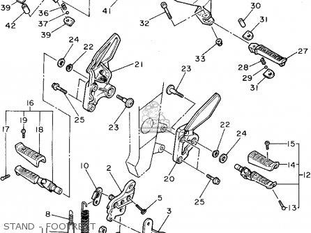Yamaha FZR1000C 1995 (S) CALIFORNIA parts lists and schematics