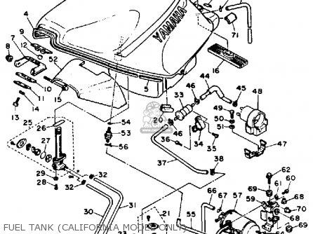 Yamaha Fzr1000tc 1987 parts list partsmanual partsfiche