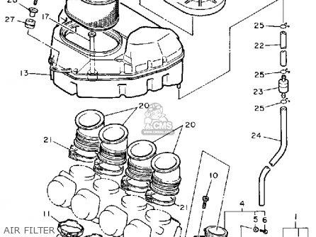 Yamaha Fzr1000wc 1989 parts list partsmanual partsfiche