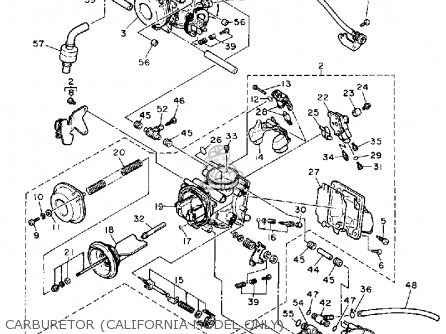 Yamaha Fzr1000wc 1989 parts list partsmanual partsfiche