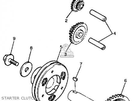 Yamaha Fzr400 1988 Exup Usa parts list partsmanual partsfiche