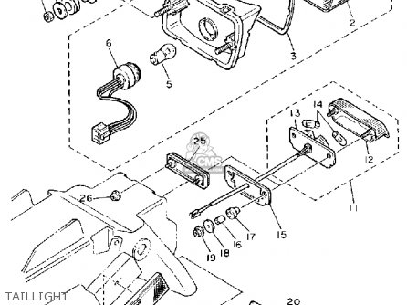Yamaha Fzr400 Genesis 1990 (l) Usa parts list partsmanual