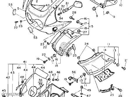 Yamaha Fzr400a 1990 parts list partsmanual partsfiche