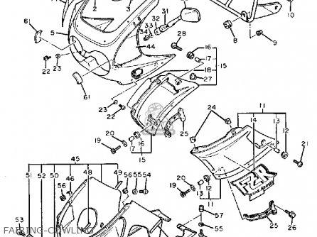 Yamaha FZR400SC GENESIS 1988 (J) CALIFORNIA parts lists
