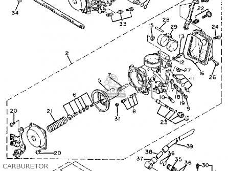 Yamaha Fzr400suc 1988 parts list partsmanual partsfiche