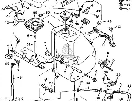 Yamaha Fzr400u 1988 parts list partsmanual partsfiche