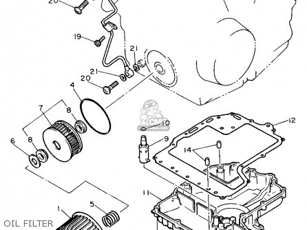 Yamaha Fzr600 1989 (k) Usa parts list partsmanual partsfiche