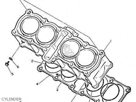 Yamaha FZR600C 1990 EXUP USA CALIFORNIA parts lists and