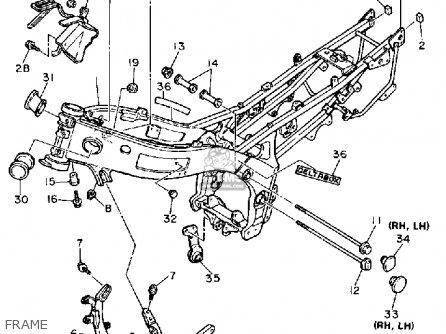 Yamaha Fzr600r 1991 (m) Usa parts list partsmanual partsfiche