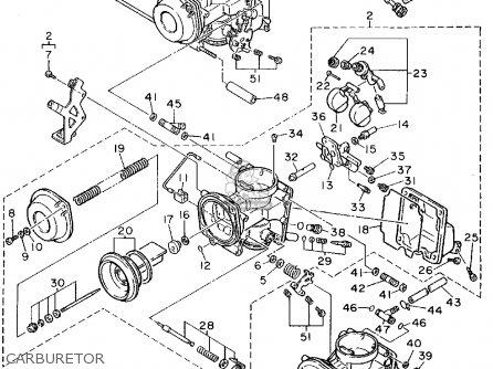 Yamaha FZR600R 1994 (R) USA parts lists and schematics