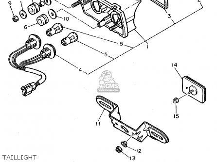 Yamaha Fzr600r 1994 (r) Usa parts list partsmanual partsfiche