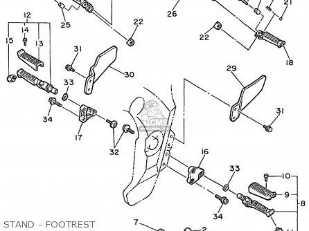 Yamaha Fzr600r Fzr600rc 1999 (x) Usa California parts list