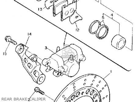 Yamaha Fzr600rc 1990 (l) California parts list partsmanual