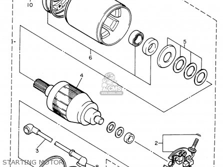 Yamaha Fzr600rc 1996 (t) California parts list partsmanual